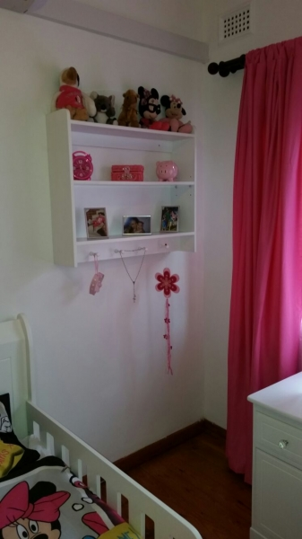 shelf with bed